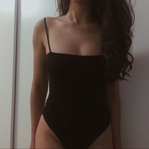 Tops - Black Leotard
